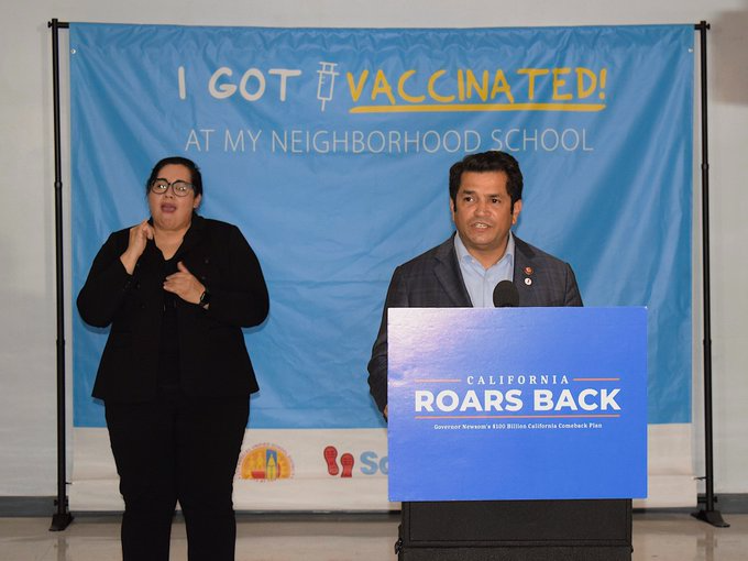 Rep. Gomez Speaks at the Vax FTW Press Conference